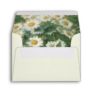 Daisies Bouquet Wedding Envelope A2