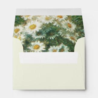 Daisies Bouquet Wedding Envelope A6