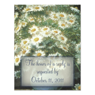 Daisies Bouquet Wedding RSVP Reply Card