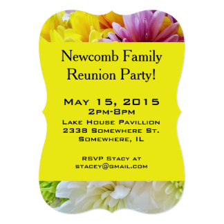 Daisies Bouquet Yellow-Party Invitation Template