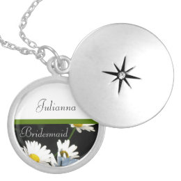 Daisies, Bridesmaid Locket Necklace