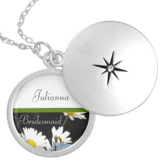 Daisies, Bridesmaid Locket Necklace