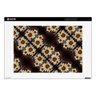 "Daisies brown 15"" laptop skins"