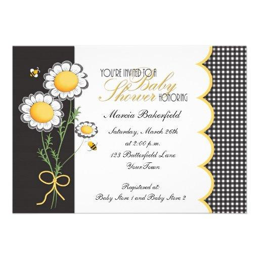 bumble bee baby shower invitation 5 x 7 invitation card