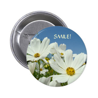 DAISIES Button SMILE! Button Valentine's Day gifts