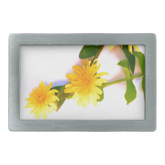 Daisies By The Cat Project Rectangular Belt Buckle