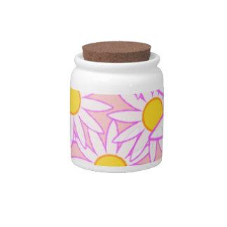 Daisies candy jar