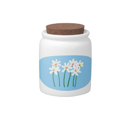 Daisies Candy Jars