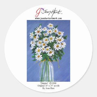 Daisies Classic Round Sticker