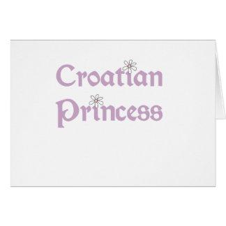 Daisies Croatian Princess Greeting Card