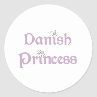 Daisies Danish Princess Round Sticker