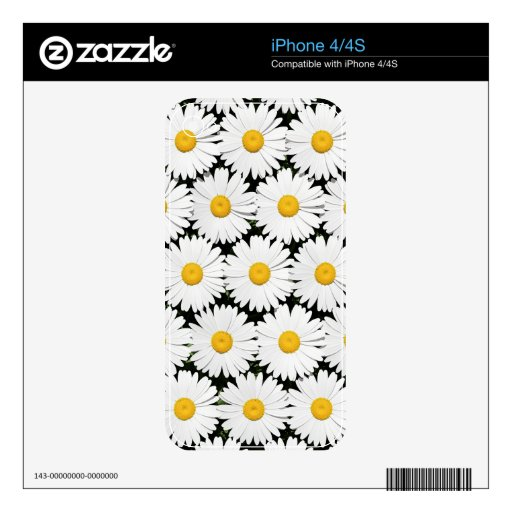 Daisies Decal For iPhone 4