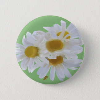 Daisies Digitially Painted Button