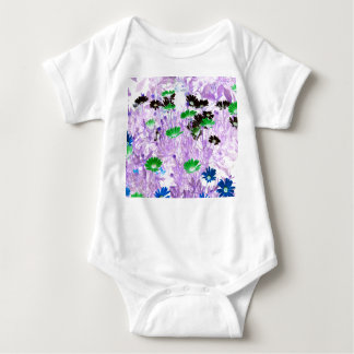 daisies field multi colored flower invert baby bodysuit