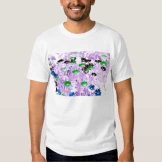 daisies field multi colored flower invert shirts