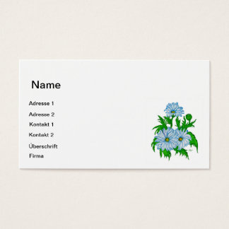 Daisies flower business card