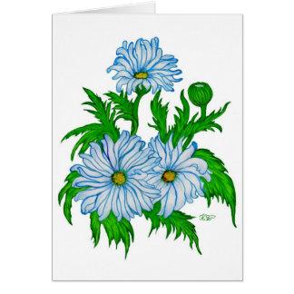 Daisies flower card