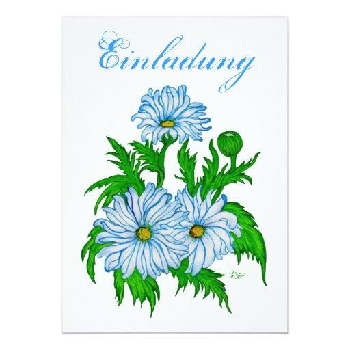 Daisies flower - invitation