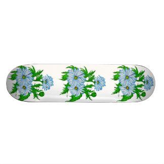 Daisies flower skateboard