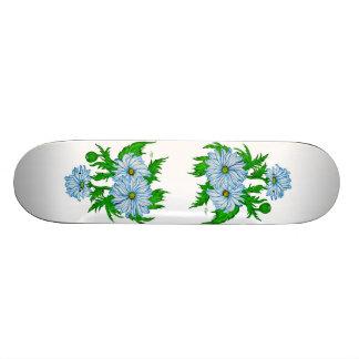 Daisies flower skateboard deck