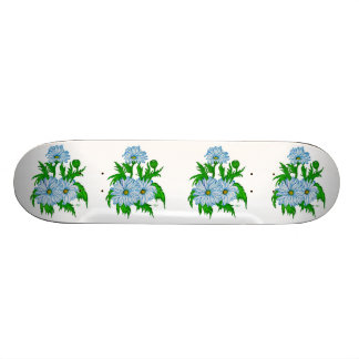 Daisies flower skateboard deck