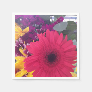 Daisies Flowers Beauty Disposable Napkin