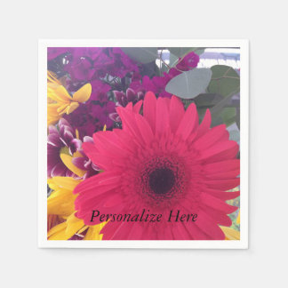 Daisies Flowers Beauty Paper Napkins