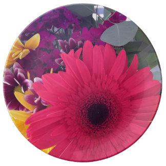 Daisies Flowers Beauty Porcelain Plate