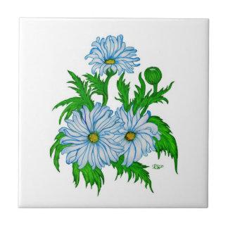Daisies flowers ceramic tile