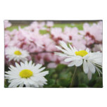 Daisies Flowers Placemats Spring Blossoms