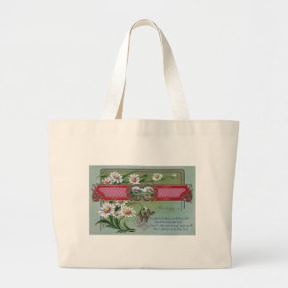 Daisies For My Love Large Tote Bag