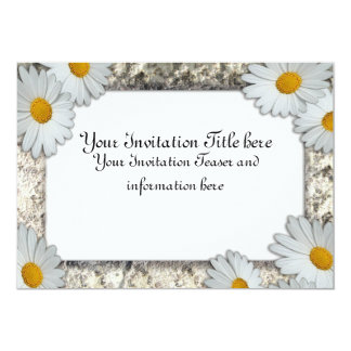 Daisies Frame Invitation