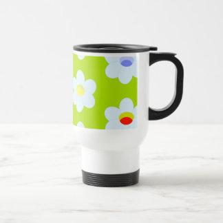 Daisies galore! 15 oz stainless steel travel mug
