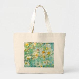 Daisies Grunge Canvas Bags