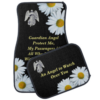 Daisies Guardian Angel Prayer Car Mat
