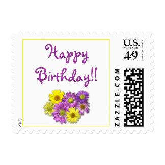 Daisies, HappyBirthday!! Postage Stamp
