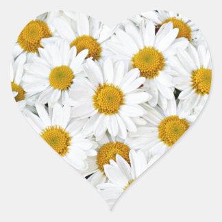 Daisies Heart Sticker