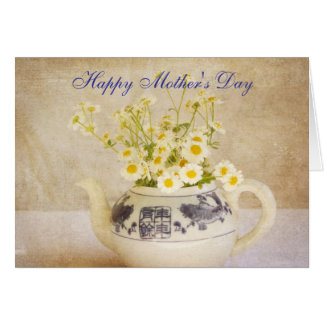 Daisies in a Teapot Mother's Day Card Greeting Cards