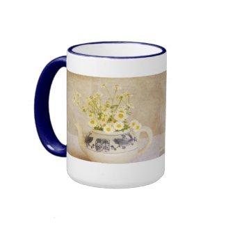 Daisies in a Teapot Coffee Mugs