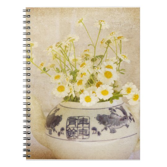 Daisies in a Teapot Notebook