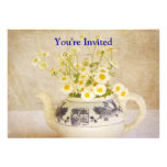 Daisies in a Teapot Personalized Announcement