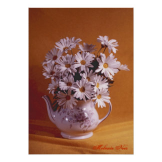 Daisies In A Teapot Photo Poster