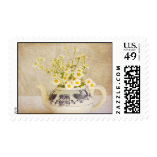 Daisies in a Teapot Postage