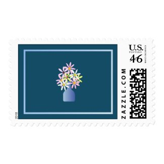 Daisies in a Vase Postage Stamp stamp