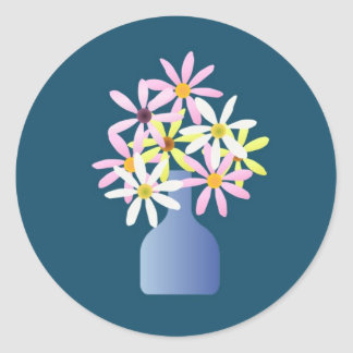 Daisies in a Vase Stickers