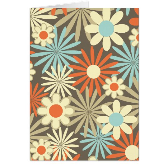 Daisies in Caramel and Blue Card