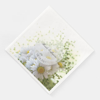 Daisies in Love- Editable Wedding Bouquet Paper Dinner Napkin
