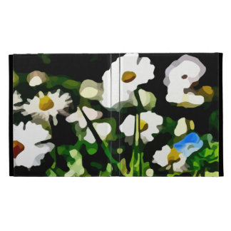 Daisies in Meadow painting iPad Folio Cases