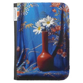 Daisies In Orange Vase Kindle Case