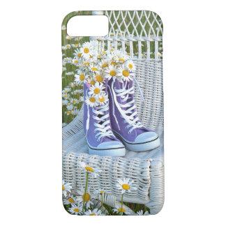 Daisies in purple sneakers iPhone 7 case